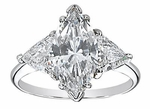 6 ct. Marquise with Trillions Ring Featuring Ziamond Cubic Zirconia