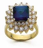 Princess Cluster Ring