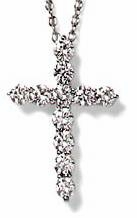 Tiphany Cross Pendant Featuring Ziamond Cubic Zirconia