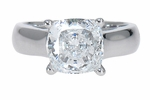 2.5 ct. Cushion Luccia Solitaire