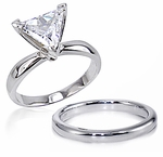 2.5 ct. Trillion  Classic Solitaire with Matching Band
