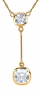 Ziamond Cushion Lariat Necklace in 14K Yellow Gold