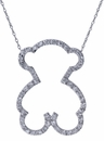 Ziamond Teddy Bear Pendant