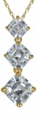 Ashlyn Three Stone Graduated Asscher Inspired Pendant in 14K Yellow Gold