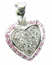 Puffed Pave Mini Heart Pendant