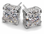 Designer Stud Earrings Featuring Ziamond Cubic Zirconia