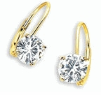 2 ct. Each Round Lever Back Earrings