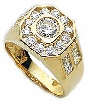 Aidon Bezel and Channel Set Round Cubic Zirconia Ring