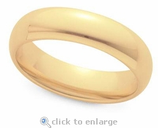 6mm Men's Comfort Fit Solid Gold Wedding Band