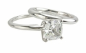Cushion Cut Classic Solitaires with Matching Band