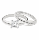Princess Cut Classic Solitaires with Matching Band