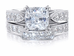 1.5 ct Winston Cushion Bridal Set