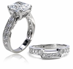2.5 ct. Cushion Winston Bridal Set
