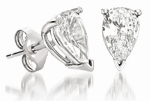1.5 ct. Each Pear Shape Cubic Zirconia Stud Earrings