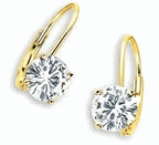 1.5 ct. each Round Lever Back Earrings