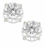 3 Carat Each Round Cubic Zirconia Stud Earrings
