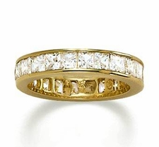 Channel Set Princess Cut Cubic Zirconia Eternity Bands