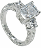 2.5ct EMRO Three Stone Ring