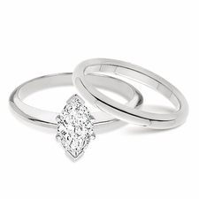 Marquise Classic Solitaires with Matching Band
