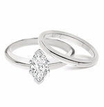 1ct. Marquise Classic Solitaire with Matching Band