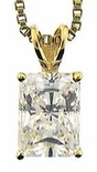 2.5 ct. Emerald Cut Classic Solitaire Pendant