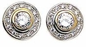 Round Bezel and Pave Earrings