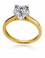 3.5 ct. Heart Cathedral Solitaire Featuring Ziamond Cubic Zirconia
