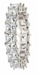 Shared Prong Princess Cut Eternity Band