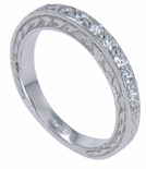 ***  SOLD OUT  ***  Estate Round Anniversary Band by Ziamond