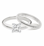 ***  Sold Out ***  1.5 ct Princess Cut Classic Solitaire with Matching Band