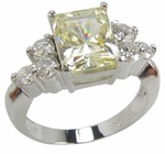 Emerald Cut Trio Cluster