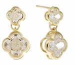***  SOLD OUT  ***  Fiore Dainty Drop Earrings in 14K Yellow Gold