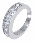 ***  Sold Out  ***  The Cloister Channel Set Princess Cut Band