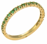 *Limited Edition* Ziamond Stackables Yellow Gold with Emerald