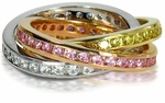 Tri Color Channel Set Rolling Rings