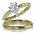 1 ct. Pear Classic Solitaire with Matching Band Clearance