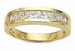 Princess Cut Channel Set Anniversary Band 2 ct. twt.