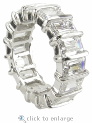 Bar Set 1 Carat Each Emerald Cut Cubic Zirconia Eternity Band
