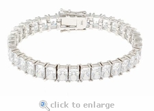 Parisian Emerald Cut Cubic Zirconia Bracelet By  Ziamond