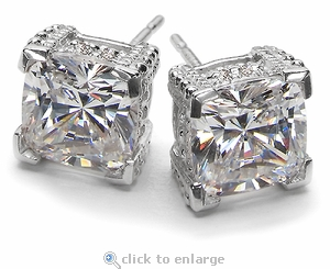 2.5 ct. Each Decadence Stud Earrings