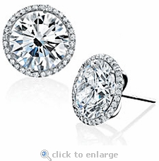 Stunner Micro Pave Halo Stud Earrings