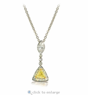 Trimara Cubic Zirconia Drop Necklace