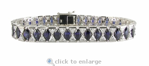 The Deco Bracelet Featuring Ziamond Cubic Zirconia