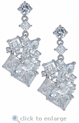 The Melange Cluster Earrings