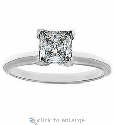 1.5 ct. Square Princess Cut Classic Solitaire PLATINUM
