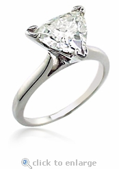 2.5 ct. Trillion Triangle Cathedral Solitaire Featuring Ziamond Cubic Zirconia