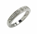 Single Row Pave Anniversary Band