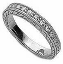 Engraved Pave Band
