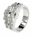 Double Row Graduated Princess Cut Band