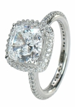 Hamilton 2.5  ct. Cushion Square Solitaire